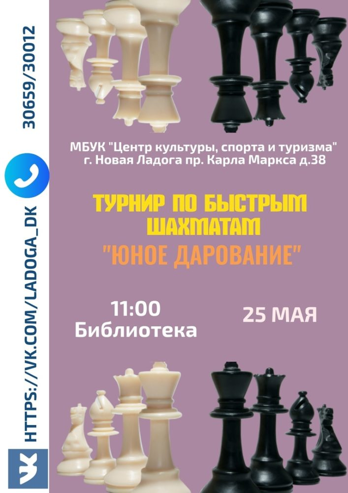 "Турнир по быстрым шахматам ""Юное дарование"""