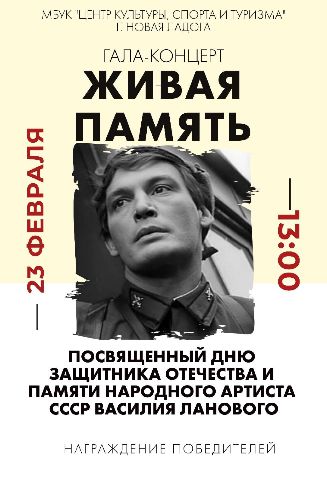 """Гала-концерт """"Живая память"""" 23 февраля"""
